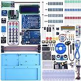 UNIROI Arduino UNO R3 キット 初心者スターターキット UNO R3互換ボード 日本語マニュアル 電子工作 ブレッドボード ジャンプワイヤ アルドゥイーノメガ uno mega2560 r3 nano Arduino UA005