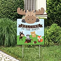 Woodland Creatures - Party Decorations - Birthday Party or Baby Shower Welcome Yard Sign