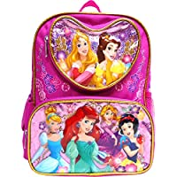 "Disney Princess Mermaid & Snow White 16"" Large Backpack- 17551"