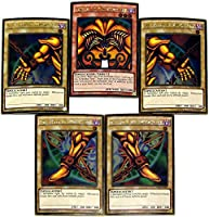 Yu-Gi-Oh Premium Gold: Return of the Bling Single Cards Gold Rare Set of all 5 Parts of Exodia the Forbidden One by
