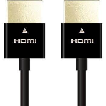 エレコム ハイスピード HDMIケーブル 【 Nintendo Switch 対応 】 4K 3DフルHD イーサネット対応 スーパースリム 1.0m ブラック DH-HD14SS10BK