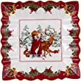 Villeroy & Boch Toy's Fantasy Bowl Square Santa with Forest Animals, 23 x 23 x 3,5 cm, Multicoloured