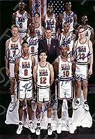 1992米国オリンピックバスケットボールチームAutographレプリカポスター印刷–Dreamチーム