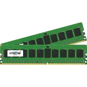 Crucial(Micron製) サーバー用メモリ PC4-17000(DDR4-2133) 8GB×2枚 288pin CL15 SRx4 ECC (永久保証) CT2K8G4RFS4213