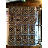 Star Wars Upgrade Card Display Pages 16 Pocket (Pack of 20) Star Wars X-Wing & Imperial Assault for Small and Mini American Sized Cards