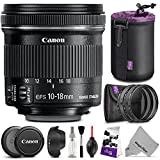 Canon EF-S 10-18mm f/4.5-5.6 IS STM Wide Angle Lens w/Essential Photo Bundle - Includes: Altura Photo UV-CPL-ND4 Dedicated Len..