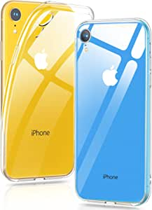 【Humixx】 iPhone XR ケース ソフト 背面クリア 薄型 軽量 メッキ加工 黄変防止 (iPhone XR , クリア)