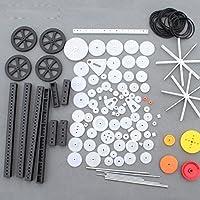 92種 歯車 プラスチック ギア パック プラスチックギア モジュール モーター ギア セットDIY バッテリースイッチ 車軸