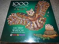 Ancient Wisdom Owl Lewis Johnson 1000 Piece Cork Jigsaw Puzzle by Bits & Pieces [並行輸入品]