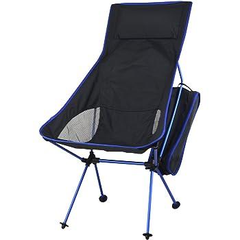 KING DO WAY キャンプ 椅子 アウトドアチェア 多色(5色) 登山 野外フェス 運動会 釣り 耐過重100kg 軽量 ブルー