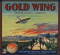 ゴールドWingブランド–Fullerton、カリフォルニア–Citrusクレートラベル 16 x 24 Giclee Print LANT-57437-16x24