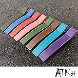 [ATK21]  (2本セットSサイズ) スクエア マットカラー クリップピン ダッカール シンプル 無地 前髪 艶消し レディース ヘアアクセサリー 大人 (パープル)