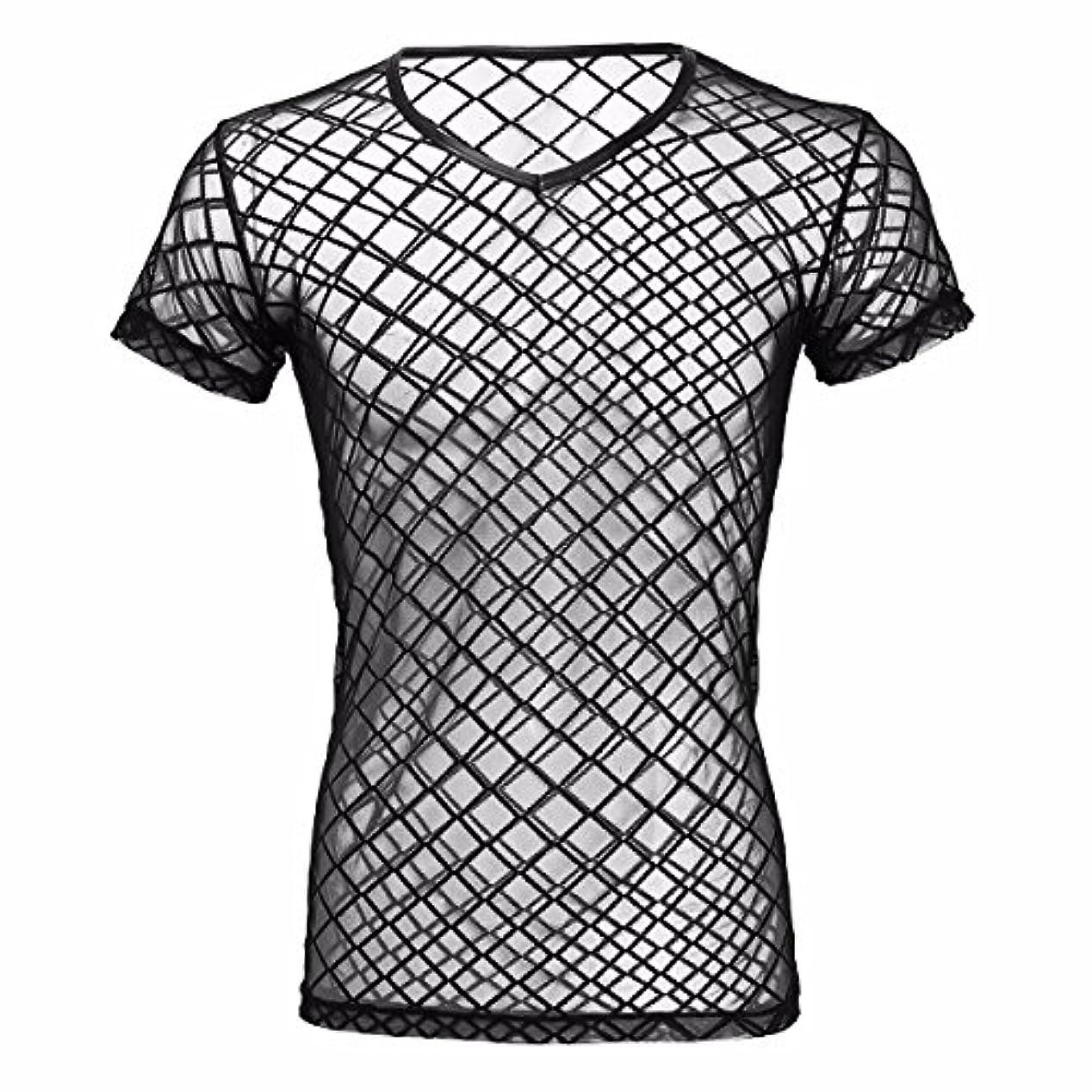 プランテーション電子レンジ鼻(フィーショー) FEESHOW タンクトップ メンズ ベスト シースル ストレッチ スポーツウェア ジムウェア メッシュ 通気性良い メンズTシャツ