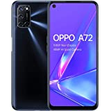 OPPO A72-4GB + 128GB Snapdragon 665 6.5 inch 5000mAh Dual-Sim 48MP Camera Sim Free Android 10 Smartphone- Twilight Black