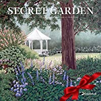 """Goldistock -""""Secret Garden"""" Eco-Friendly 2019 Large Wall Calendar - 12"""" x 24"""" (Open) - Thick & Sturdy Paper - Artwork by Carol Rupp - Secluded Havens for Daily Inspiration [並行輸入品]"""