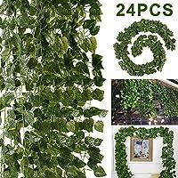 tropicaljp_JPフェイクグリーン インテリア 造花葉物 ハンギングブッシュ スパニッシュモス 苔 2点セット入り (ハート葉っぱ)