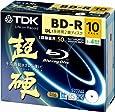 TDK 録画用ブルーレイディスク 超硬シリーズ BD-R DL 50GB 1-4倍速 ホワイトワイドプリンタブル 10枚パック 5mmスリムケース GBRV-50HCPWB10F