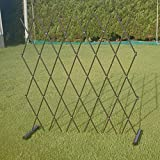 庭 フェンス/柵 アプローチとガーデンの仕切りフェンス・進入禁止用のバリケードに 便利 生活 ワンタッチ伸縮 簡易フェンス