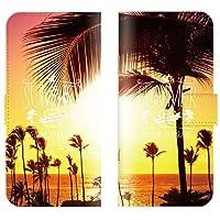 【 ankh 】 手帳型ケース 全機種対応 【 AQUOS PHONE EX SH-04E アクオス フォン EX SH-04E 専用 】 ハワイアン パームツリー プルメリア hawaii ビーチ サーフ ハワイ ブック型 二つ折り レザー 手帳カバー スマホケース スマートフォン