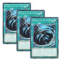 【 3枚セット 】遊戯王 英語版 HSRD-EN053 Mystical Space Typhoon サイクロン (ノーマル) 1st Edition
