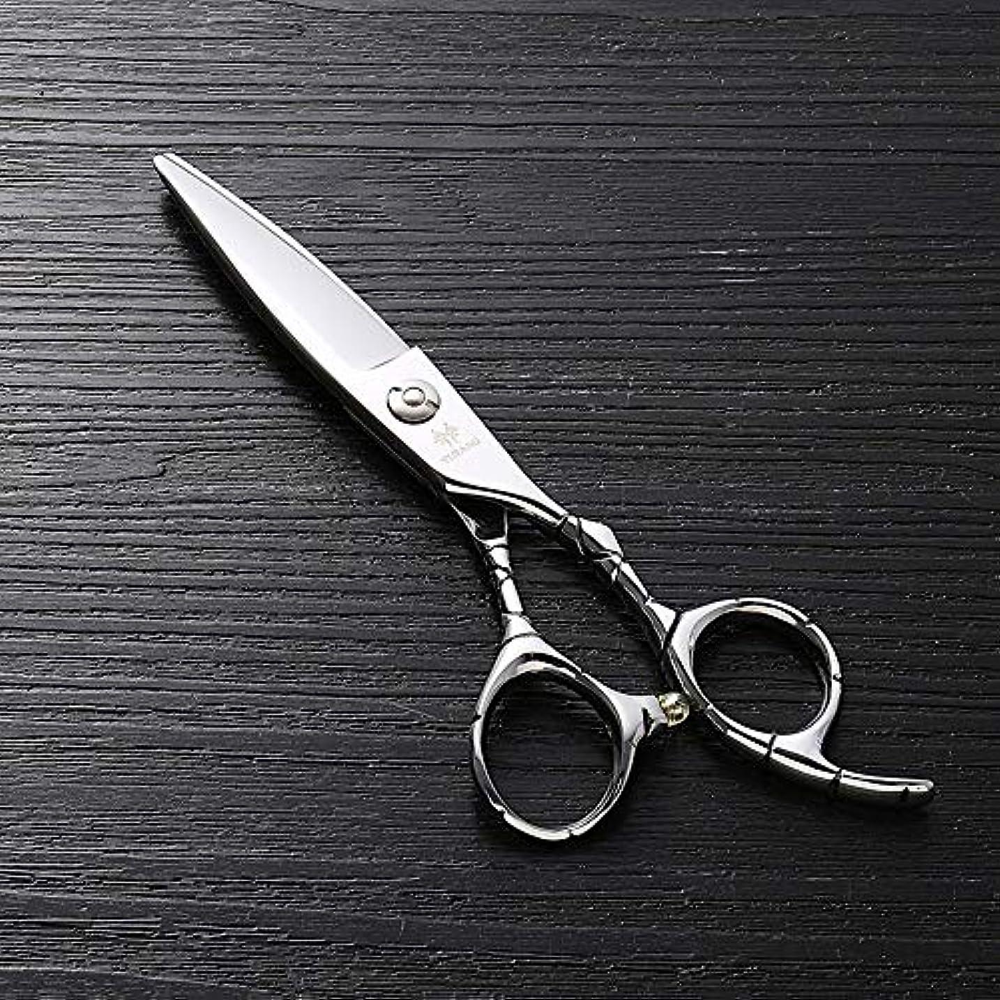 除去間勧告理髪用はさみ 6インチ美容院プロフェッショナルハイエンド理髪はさみ、ステンレス鋼ランセット脂肪フラットシアーヘアカットシザーステンレス理髪はさみ (色 : Silver)