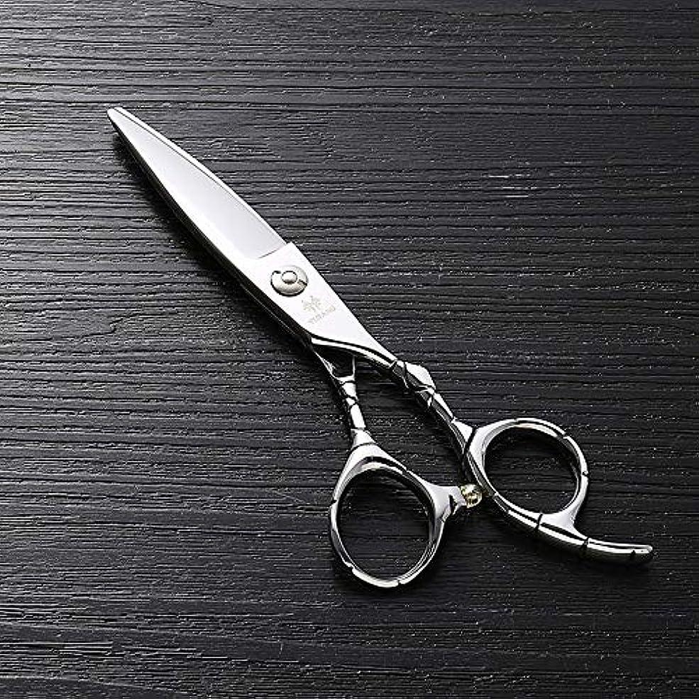 ステッチ発明空虚6インチのステンレス鋼のランセットの脂肪質の平らなせん断、美容院の専門の上限の理髪はさみ ヘアケア (色 : Silver)
