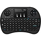 Rii i8+ 2.4GHz Mini Wireless Keyboard with Touchpad Mouse,LED Backlit,Rechargable Li-ion Battery for PC Xbox 360 Xbox One PS3