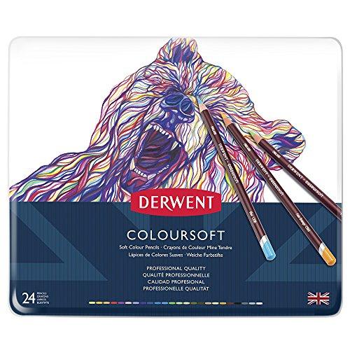 ダーウェント カラーソフト色鉛筆 24色セット
