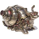 Veronese Steampunk Giant Land Snail Trinket Box Cold Cast Bronze Statue