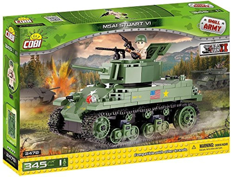Cobi Small Army ミリタリーブロック WWII 第二次世界大戦 アメリカ軍 M5A1 スチュアートVI号軽戦車 M5A1 Stuart VI #2478 【COBI日本正規総代理店】