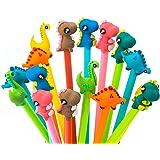 RECHENG Cute dinosa Gel Pens Ballpoint Pens,Cartoon gel pens Cute pens Fun pens Writing Pen Stationery School Supplies Gift S