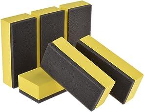 Steman-net ワックススポンジ コーティング専用スポンジ コーティングスポンジ 6個セット コーティング剤・保護剤の塗布に 2層スポンジ
