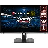 "MSI Full HD Gaming RGB Non-Glare Super Narrow Bezel 1ms 1920 x 1080 144Hz Refresh Rate Adjustable Height Arm FreeSync 27"" IPS"