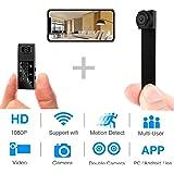 Hidden Spy Camera,1080P WiFi Mini Camera Portable Wireless Security Cameras Video Recorder IP Cameras Nanny Cam with DIY Inte