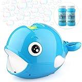 Betheaces Bubble Machine - Automatic Whale Bubble Maker Over 2000 Bubbles Per Minute Bubble Blower Toy for Kids Boys Girls Ag