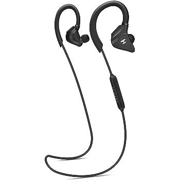 LEOPHILE IMPULSE ブルートゥース イヤホン Bluetooth4.1イヤホン スポーツに向け APT-X対応 高遮音性 重低音 IPX5 防滴仕様 マイク付き 通話可能 ワイヤレス イヤホン(ブラック)