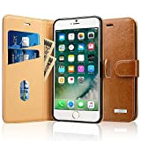 Labato iPhone 7 ケース 手帳型 本革レザー アイフォン7カバー TPU 財布型 スタンド機能 カードポケット 手作り ハンドメイド 耐摩擦 耐汚れ 全面保護 フリップ 人気 全四色 (ブラウン lbt-IP7-01Z20)