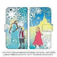 iPhone8 手帳型 ケース [デザイン:雪の女王/マグネットハンドあり] 童話 アイフォン スマホ カバー