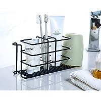 歯ブラシスタンド 歯ブラシ立て ホルダー 壁掛け 置き型 粘着式 バスルーム 洗面台 多機能 コップホルダー 電気歯ブラ…