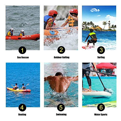 Andrewxdi Life Vest for Adults Kids Women Men PFD - Snorkel Vest Life Jacket Buoyancy Aid Water Sports Swimming Boating Kayaking + Whistle(X-Large Blue)