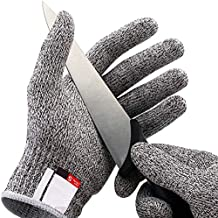 LETOOR Cut Resistant Gloves High Performance Level 5 Protection, Food Grade. Size Medium Grey