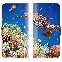【 ankh 】 手帳型ケース 全機種対応 【 AQUOS Xx3 506SH アクオス エックス 】 ハワイアン 手帳型 ハワイ アロハ hawaii サーフ ボード 海 亀 パームツリー ブック型 二つ折り レザー 手帳カバー スマホケース スマートフォン