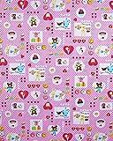 お昼寝布団カバー 70×150 cm 70 150 サイズオーダー 保育園 綿 ファスナー 柄番200ピンク
