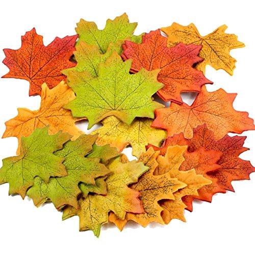 300枚セット 高品質 造花 紅葉 楓の葉 紅葉の季節 人工...
