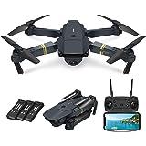 Quadcopter Drone With Camera Live Video, EACHINE E58 WiFi FPV Quadcopter with 120° FOV 720P HD Camera Foldable Drone RTF - Al