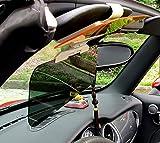 Mercury 改良版 車用 サンバイザー ダブルバイザータイプ 防眩サンバイザー クリーニングクロス付き