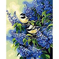 2羽の鳥装飾アートクラフト刺繍大人シングルポイントクイックポイント5d絵画番号キットウォールステッカーフルドリルスクエアダイヤモンド30×40センチ