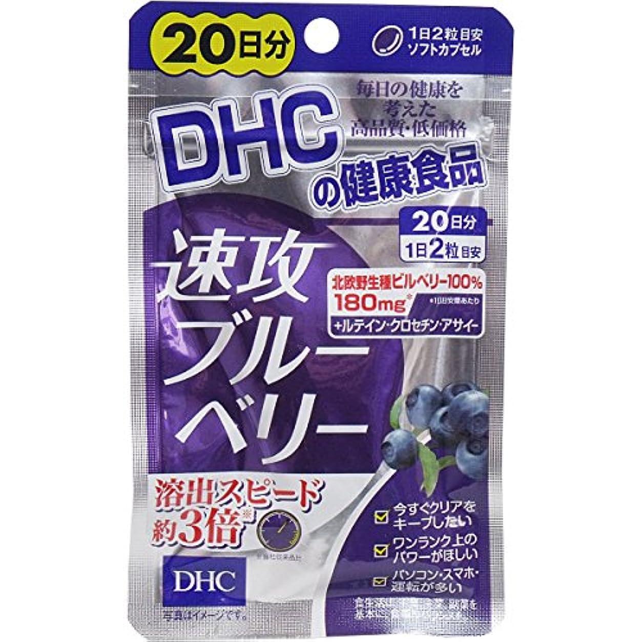 寛容なトランスペアレントボーダーDHC 速攻ブルーベリー 20日分 40粒【3個セット】