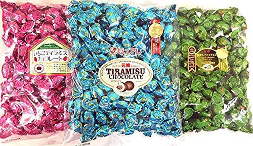 ピュアレ元祖ティラミスチョコ405g+抹茶ティラミス405g+イチゴティラミスチョコ405g 3点セット