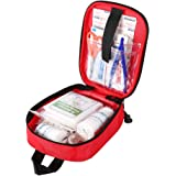 100Pcs First Aid Kit for Hiking, Backpacking, Camping, Travel, Car & Cycling with Waterproof Laminate Bags Prepared for All O